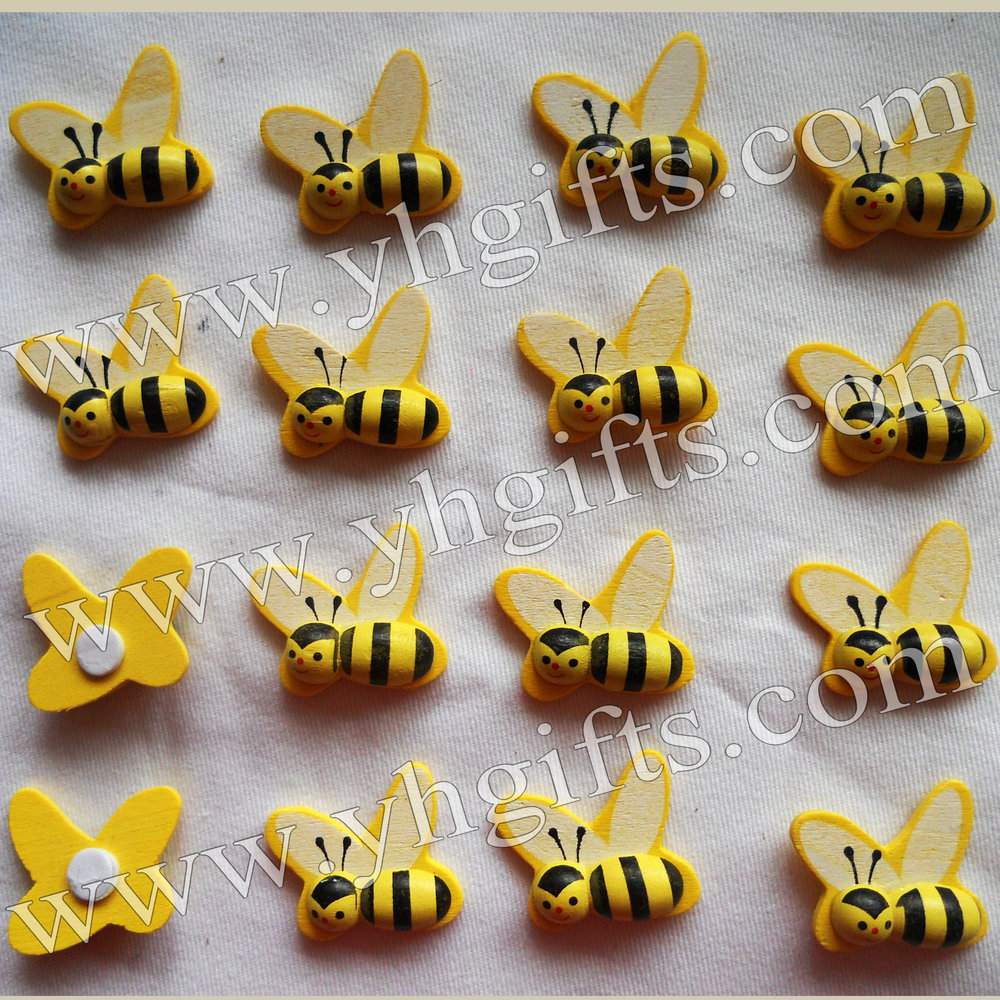 Craft bumble bee - Craft Bumble Bee Aliexpress Com Buy 50pcs Lot 1 Inch Wood Honeybee Stickers 3d Bumble