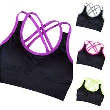 2017 New Women Sport Bra Running Fitness Gym Yoga Crop Tops Tank Exercise Jogging Stretch Padded Seamless Sports Vest Bras ZM14