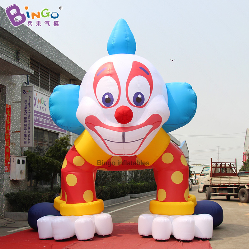 Analytical Personalized 5m Tall Inflatable Clown Arch / Giant Inflatable Clown Toys