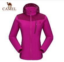 Camel Women's Outdoor Jacket 2016 New Outdoor Waterproof Windbreak Climbing Hiking Softshell