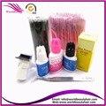 Venda quente Micro escovas Kits de Ferramentas de Maquiagem Pincéis de Maquiagem Organizador de Maquiagem Cola Para Cílios Extensão Pinças Cílios Varinha