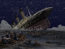 O naufrágio do Titanic Filmes de Hollywood partido Fundos Computador impresso backdrops Vinil pano de Alta qualidade para venda