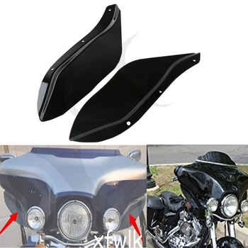 Motorcycle Black/Clear Side Wing Windshield Air Deflector For Harley Touring FLHR FLHT FLHX 96-13 - DISCOUNT ITEM  43% OFF All Category