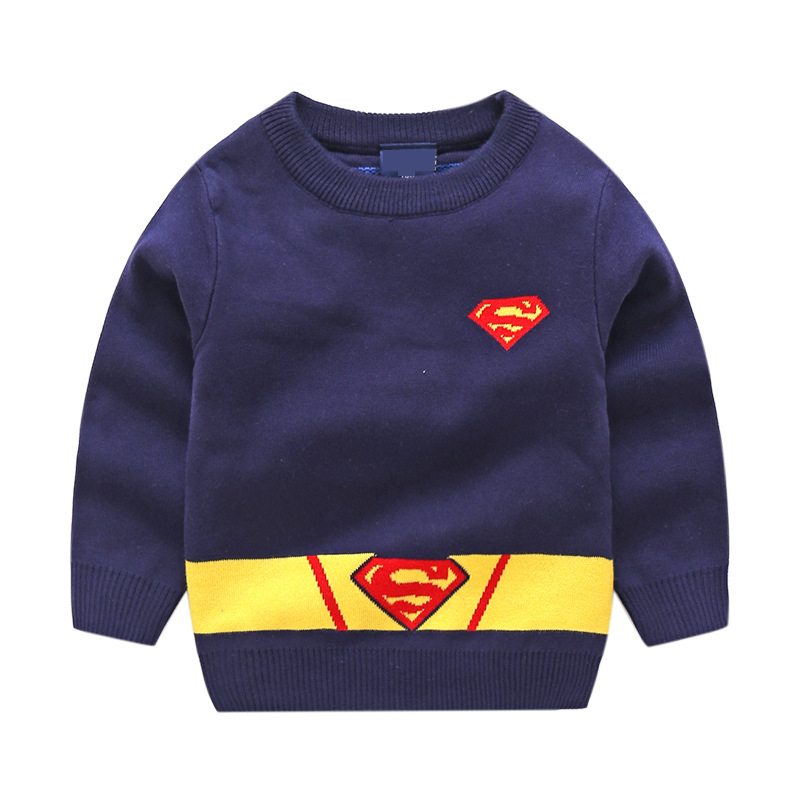 2018 Autumn New Children Superman Anime Baby Boys Sweaters Kids