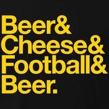 BEER & CHEESE & FOOTBALL & BEER Men's T-Shirt