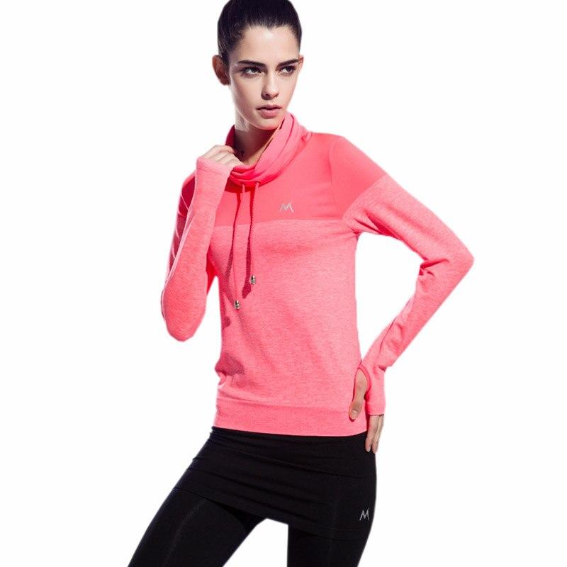 Yoga Kemeja Wanita Yoga Top Cepat Kering Wanita Kerah Tinggi Tees - Pakaian olahraga dan aksesori - Foto 4