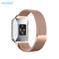 CRESTED Milanese Loop Strap For Fitbit Ionic Link Bracelet Stainless Steel Strap Replacement Metal Watch Band