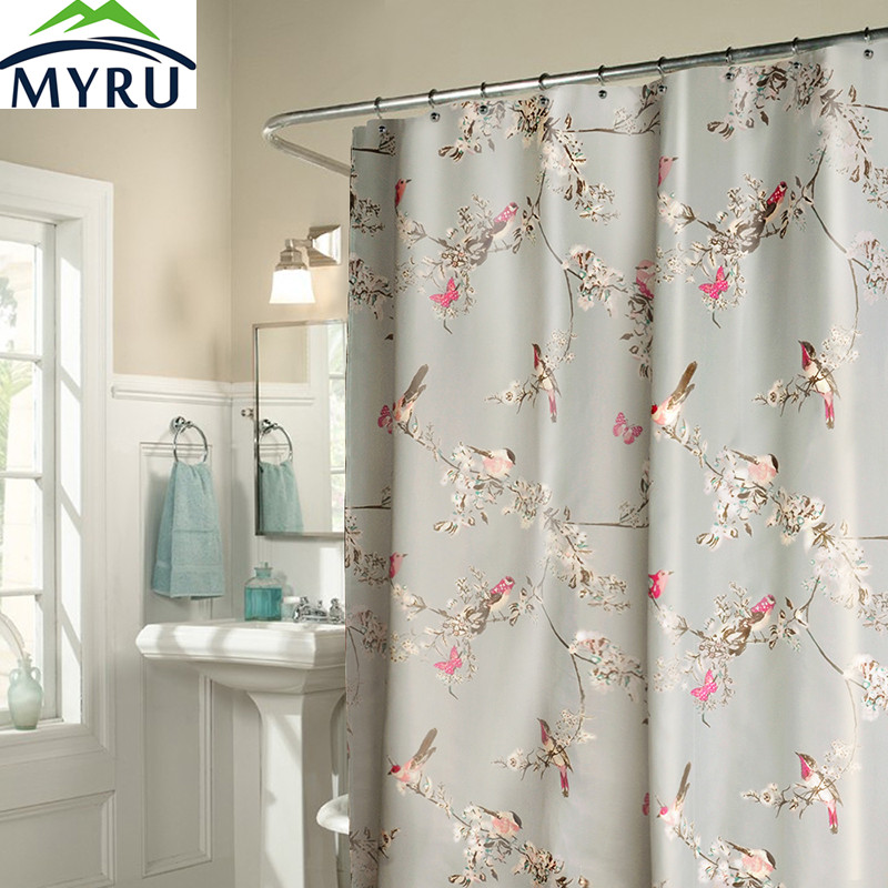 buy myru new creative birds shower curtain waterproof polyester shower curtain cool shower curtain for bathroom from reliable curtains