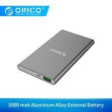 ORICO FIREFLY 5000 mAh harici pil için 5V2A Alüminyum Alaşım Akıllı taşınabilir şarj cihazı LED Göstergesi şarj adaptörü Cep Tel...