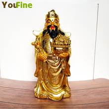 Bronze Fortuna pure copper Feng Shui lucky god Buddha image attracts money and displays decorative Buddhist supplies