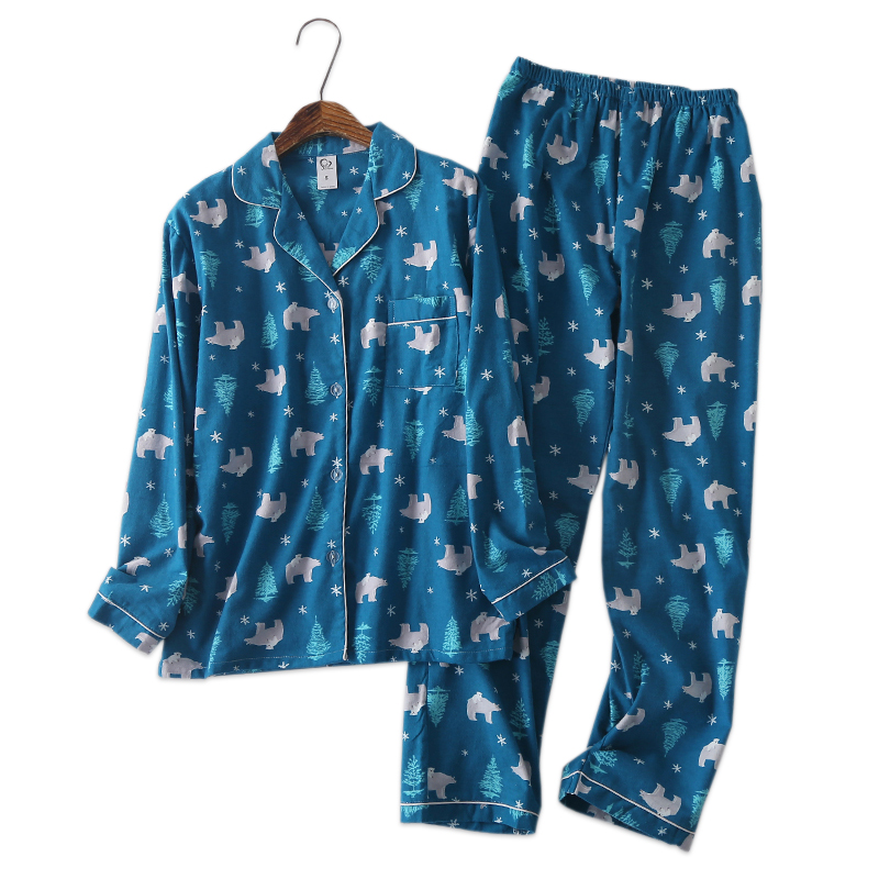 US $15.85 |Korea Cute cartoon 100% cotton pyjamas women pajamas sets autumn 100% Brushed cotton winter warm women sleepwear pijamas mujer-in Pajama Sets from Underwear & Sleepwears on AliExpress - 11.11_Double 11_Singles
