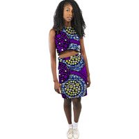 African Print Dashiki Skirt Sets Women Ankara Fashion Tops And Skirts Set Tailored Made Wedding Outfits