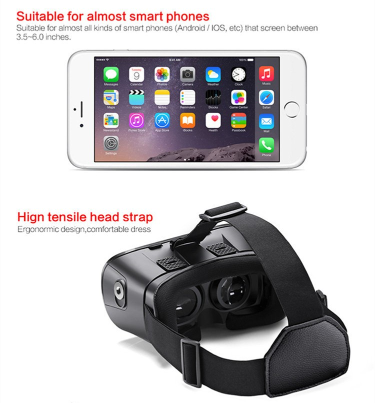 2016 New VR Self-Model Polarized Google Oculus Rift Cardboard Virtual Reality DK2 Gear 3D Glasses for 4.0-6.0 inch Smartphone (15)