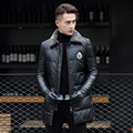 L-4XL!Winter Factory Direct Sale Male Sheepskin Down Coat Long Coat Men's Feather Garment Wool Lapel Badges