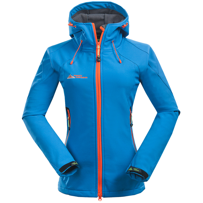 2018 Women Softshell Hiking Jackets Outdoor Camping Escalada Coats Thermal Waterproof Windproof Spring Female Jackets RW001