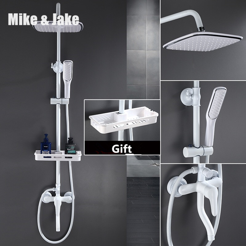 Pure white shower set with bidet shower bathroom white bidet shower set white Bathtub faucet white bidet shower set MJ9888W цена 2017