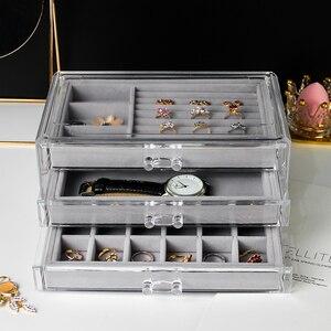 Image 3 - ป้องกันฝุ่นกล่องเครื่องประดับกล่องสุภาพสตรีจี้นาฬิกาRackกล่องต่างหูสร้อยคอเครื่องประดับกล่องYSUMI