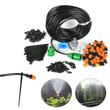 Boruit 25M Micro Drip Irrigation Watering Kits With Adjustable Dripper Smart Controller Suits Sprinkling Garden Greenhouse Plant