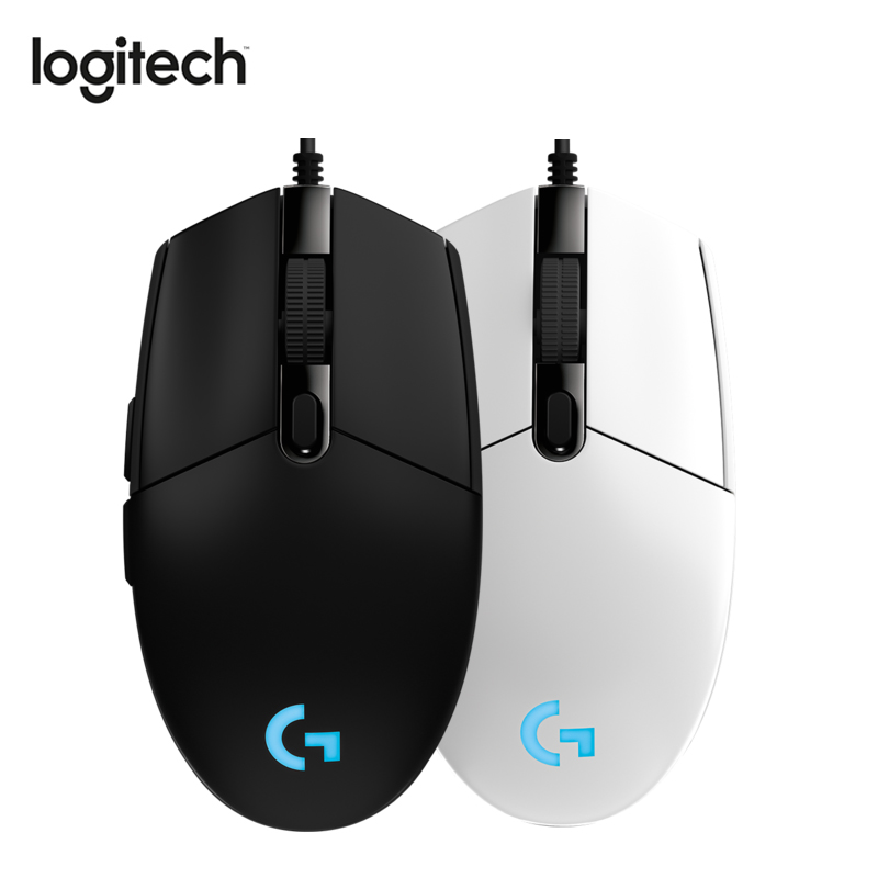 Logitehc G102 Prodigy Gaming Mouse Wired Mouse With 8000DPI Optical RGB Lights For PC / Desktop Mouse Gamer Official Genuine