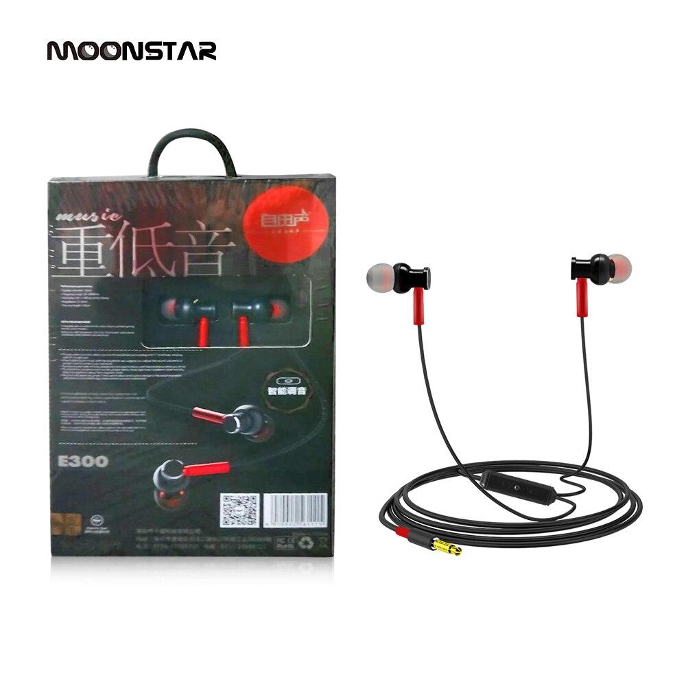 MoonStar E300 Sport Earphone wholesale Wired Super Bass 3.5mm In-Ear earphone Earbuds Earpiece wired headphones