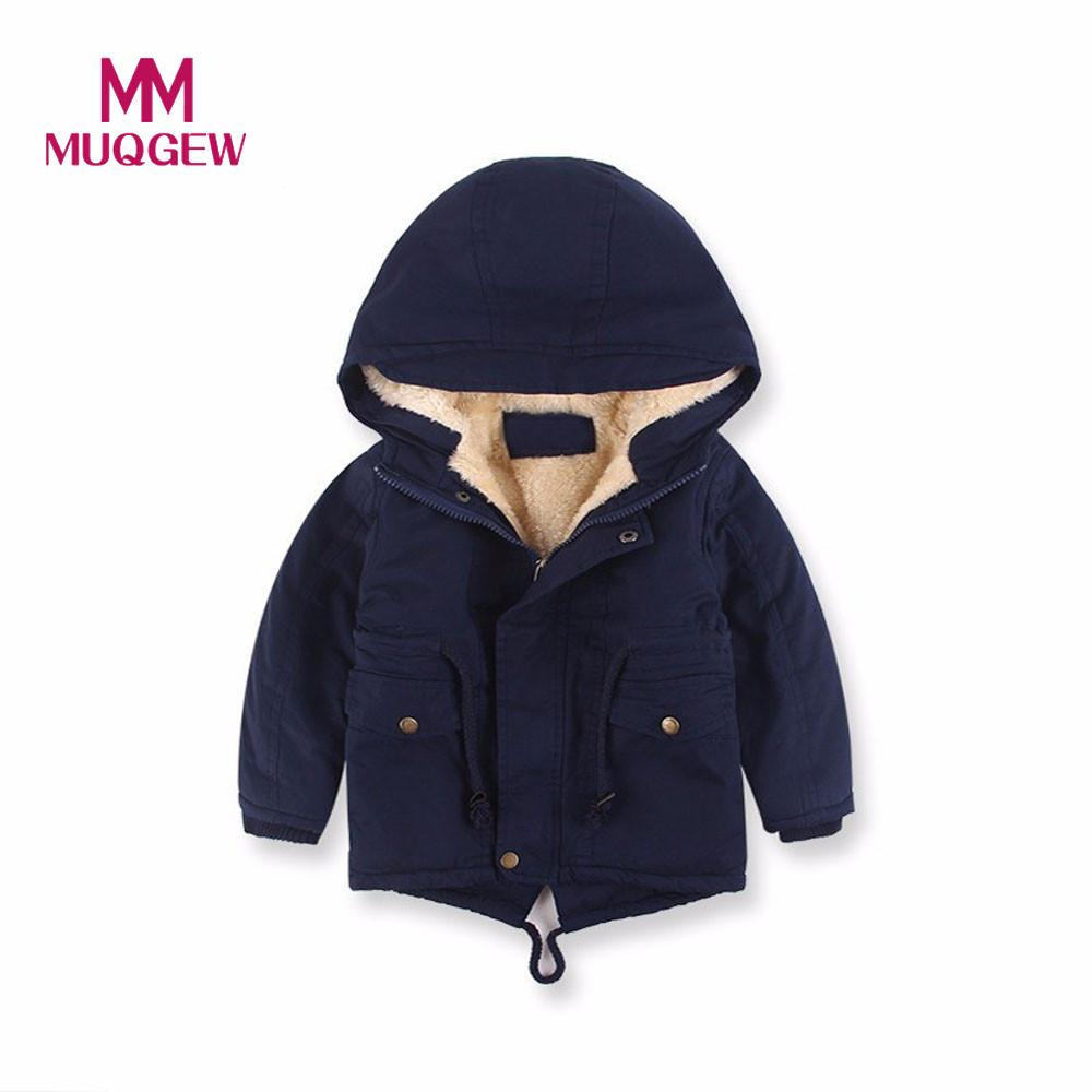 MUQGEW Baby Kids Boy Winter Clothes Long Sleeve Infant Product Cotton Hooded Coat Jacket Thick Warm Zipper Outwear Clothes 2017new women winter leisure coat warm fur collar hooded womens parkas female long sleeve zipper good overcoat thick cotton coat