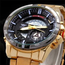 Top brand AMST Gold sports Watch Army Military Calendar Men Outdoor Watches waterproof Men's Dual Display Wristwatches