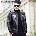 L-4XL!Autumn And Winter Male Genuine Leather Jacket Cowhide Down Coat Baseball Coat Men Leather Clothing Short Design Jacket