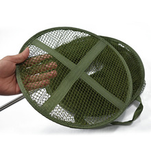 5 Layers Collapsible Long Fishing Net Cage Shrimp Minnow Fishing Bait Trap Dip Net Cages 140x30cm Fishing Accessories