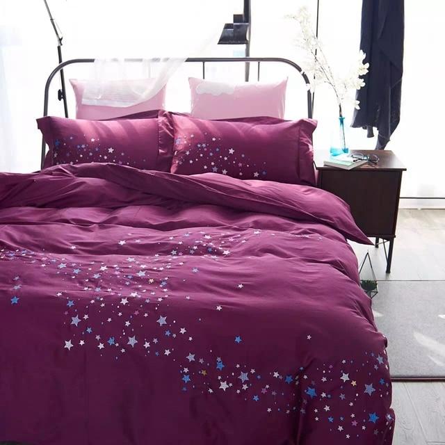 100 Egyptian Cotton Posh Bedding Set Twin Double Queen King Duvet Cover