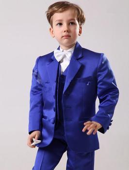 Del Ragazzo Abbigliamento Formale 2016 Bello Formato Su Ordine E Colori Dei Bambini Del Ragazzo Vestito Da Sposa Boys 'Formale (Jacket + Pants + Tie + Gilet)