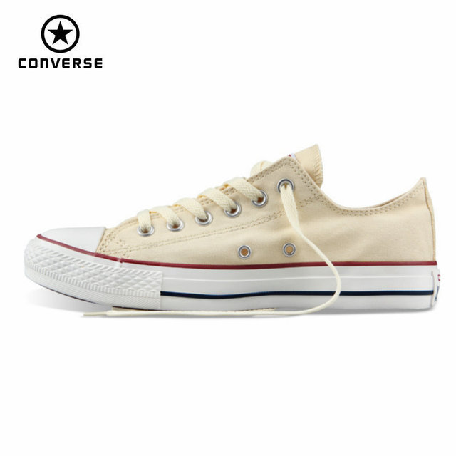 bba104c6f4a5f3 classic Original Converse all star men and women sneakers canvas shoes all  black and beige low Skateboarding Shoes