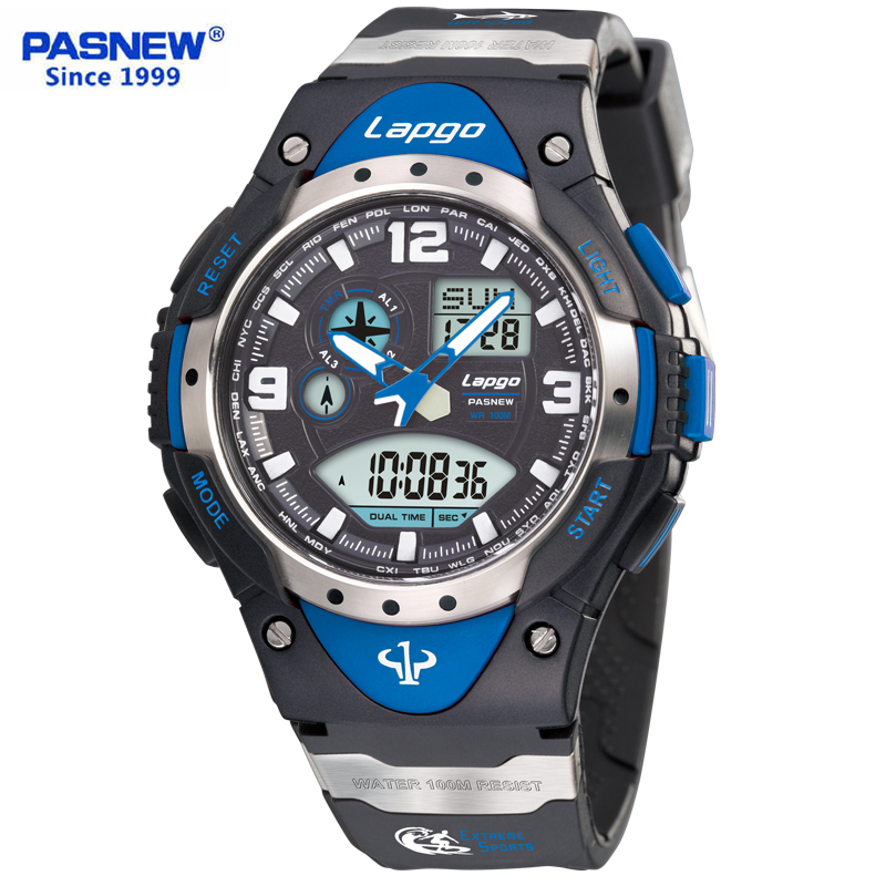pasnew brand Digital Watch Men Military Army Sport Watch Water Resistant Date Calendar LED Electronics Watches relogio masculino