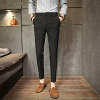 Spring New Nine Pants Male Slim Feet Casual Small Trousers Youth Wild Suit Pants Men Korean