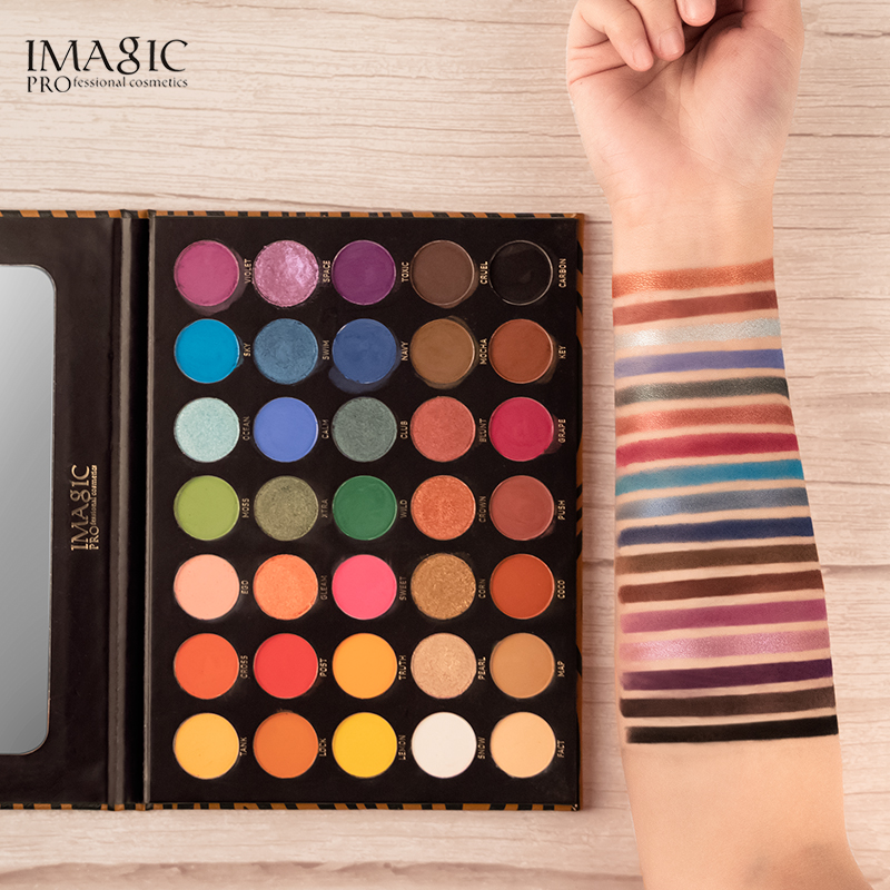 IMAGIC 35 color eyeshadow palette waterproof matte glitter eye shadow primer luminous eyeshadow ladies gift Qual Codigo Rastreio 2