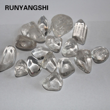 RUNYANGSHI Clear Quartz Tumble Stones Polished Healing Crystal Gemstones Fen Shui Stone Fish Tank Aquarium Decor 20-30mm
