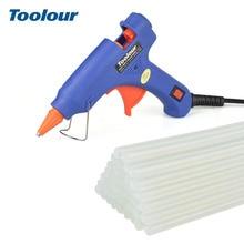 Toolour Hot Melt Glue Gun EU/US 100 240V 20W Glue gun 40/10/1pc 7mm*150mm Glue Sticks Mini Guns Thermo Gluegun Repair Heat Tool