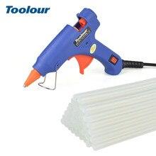 Toolour Hot Melt Glue Gun EU US 100 240V 20W Gluegun with 40pc 7mm 150mm Glue