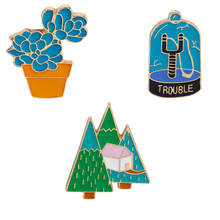 Cute pins collection ~ Animal Fruit  Peach Cactus Camping Enamel for Women Denim Jackets Lapel Pins Hat Badges Kid Jewelry