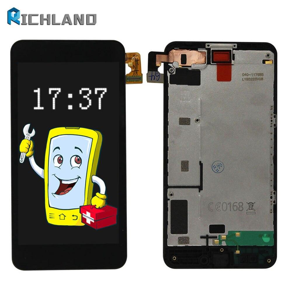 D'origine Pour NOKIA Lumia 630 LCD Écran Tactile avec Cadre Pour NOKIA Lumia 630 Affichage Digitizer Assemblée Pièces De Rechange N630