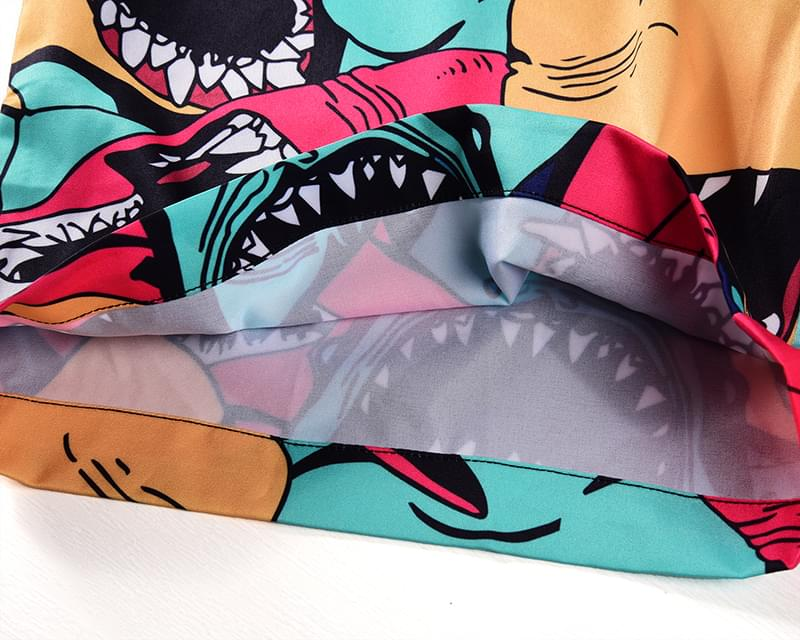 Cartoon Shark Men Rompers 3D Jumpsuits Playsuits Harajuku Harem Cargo Overalls One Piece Jumpsuit Hawaiian Shirts Men 39 s Sets in Men 39 s Sets from Men 39 s Clothing