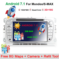 2 Din 7 Inch Car DVD Player For FORD Mondeo S MAX Connect Galaxy FOCUS 2
