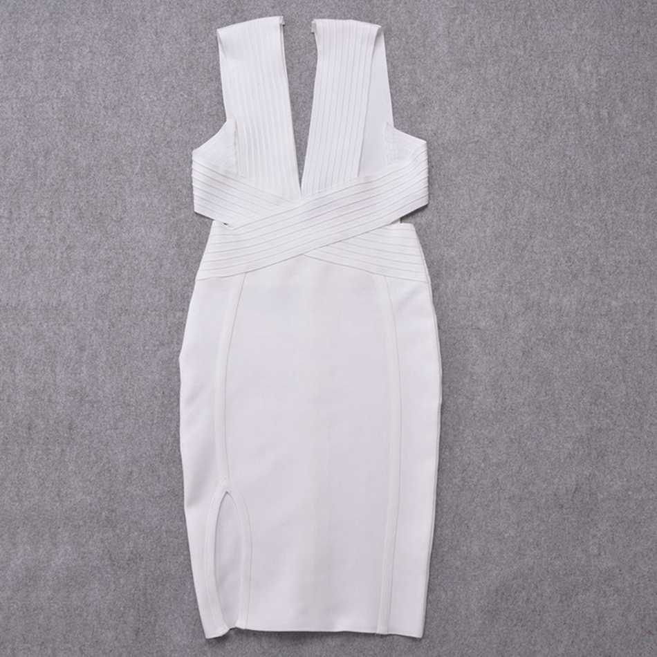 Оливковое, зеленое, белое, красное повязное платье, сексуальное, глубокий v-образный вырез, Vestidos, Боковой разрез длиной до колена, вечернее платье без рукавов, FH10