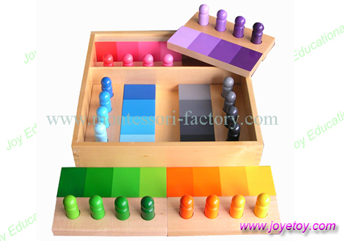 3056 standard colour match game sensral montessori materials home school  educational earning toys for Non-