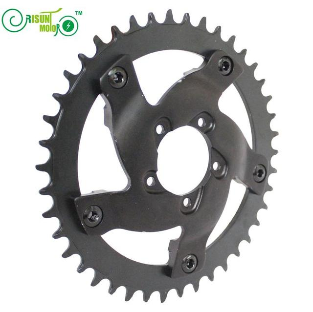 BAFANG 48V 1000W BBSHD or BBS03 Mid Drive Motor Cycling Crankset 42T Chain Wheel Electric Bicycle 8fun Center Drive Motor Kits