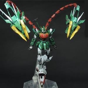 Image 3 - Super Nova XXXG 01S2 Verde Doppio testa di Drago Altron Gundam Model Kit MG 1/100 Action Figure Giocattolo di Montaggio Regalo di Acqua sticker