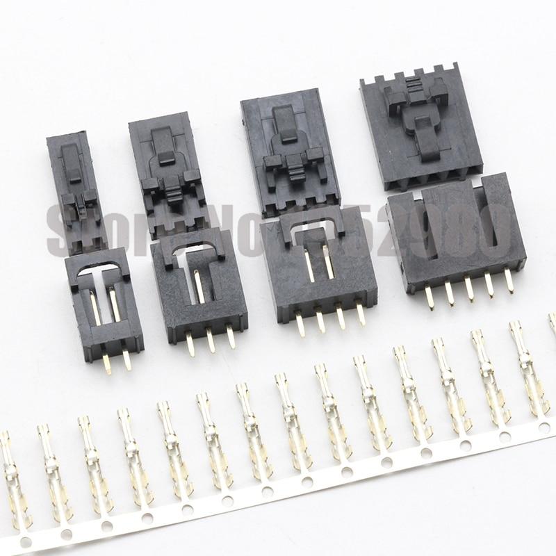 50 conjunto mx2.54 dupont conector 2/3/4/5/6/8/12pin com fivela de cinto única linha 2.54mm em linha reta pino encabeçamento + habitação + terminais