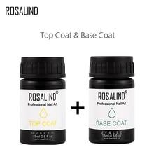 ROSALIND 15 мл топ базовый слой набор для всех гель лак полупостоянный дизайн маникюр праймер верхнее покрытие полировка ногтей дизайн ногтей