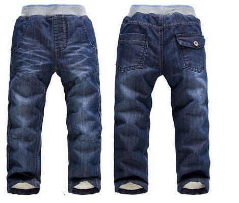 Envío de la Nueva Marca de ropa Para Niños ropa de Invierno Gruesa Cachemir Cálido Pantalones de Los Niños/Niñas Pantalones Vaqueros de Invierno 3-7 y