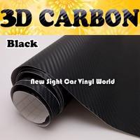 Black 3D Carbon Fiber Car Vinyl Film Black Carbon Fiber Car Wrap Sticker Air Bubble Free Size:1.52*30m/Roll