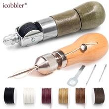 DIY инструмент для шитья кожи, ручная швейная машина, вощеная нить для кожи, краевой ремень со строчкой, полоски, инструменты для изготовления обуви